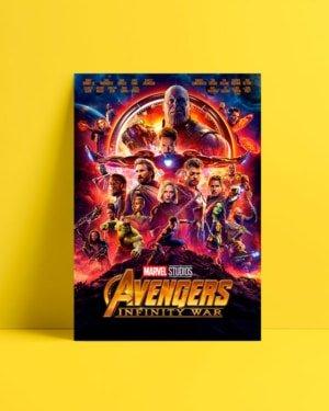 avenger infinity war film afis satın al