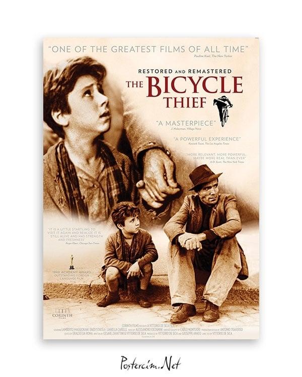 Bicycle Thieves Bisiklet Hırsızları film posteri