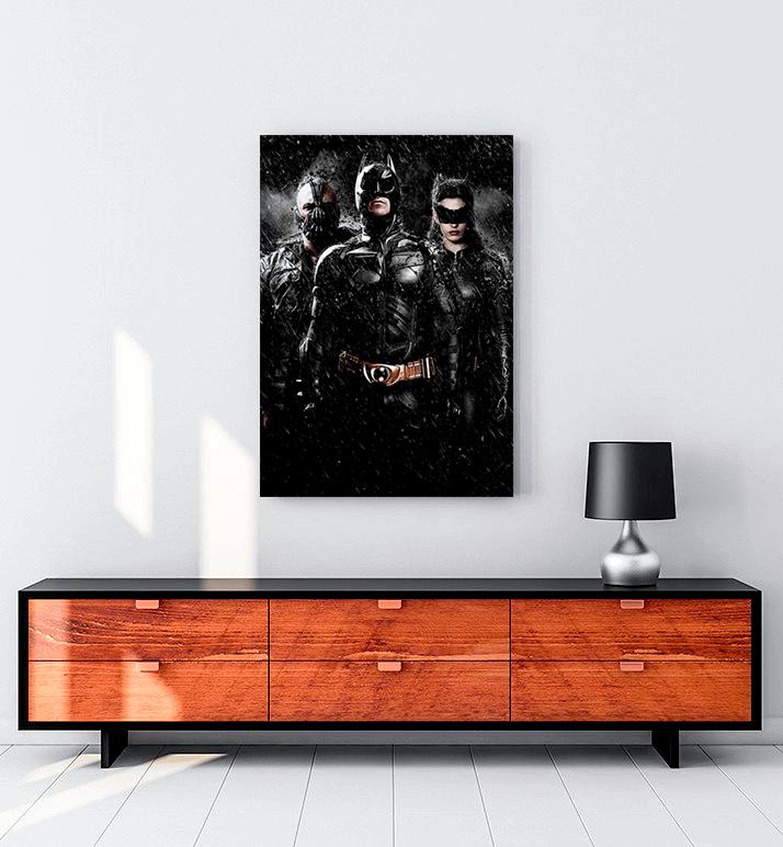 batman film kanvas tablo
