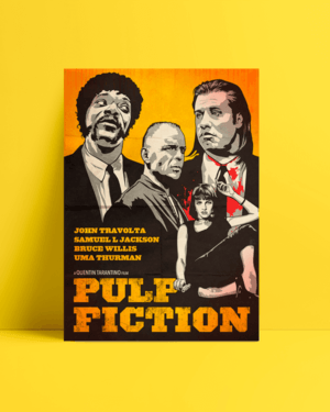 Pulp fiction Art Afiş