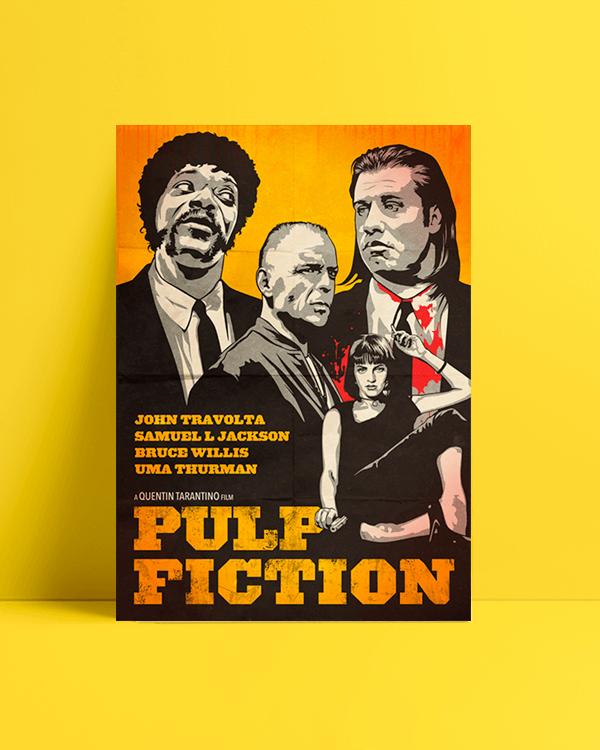 Pulp fiction Art Afiş