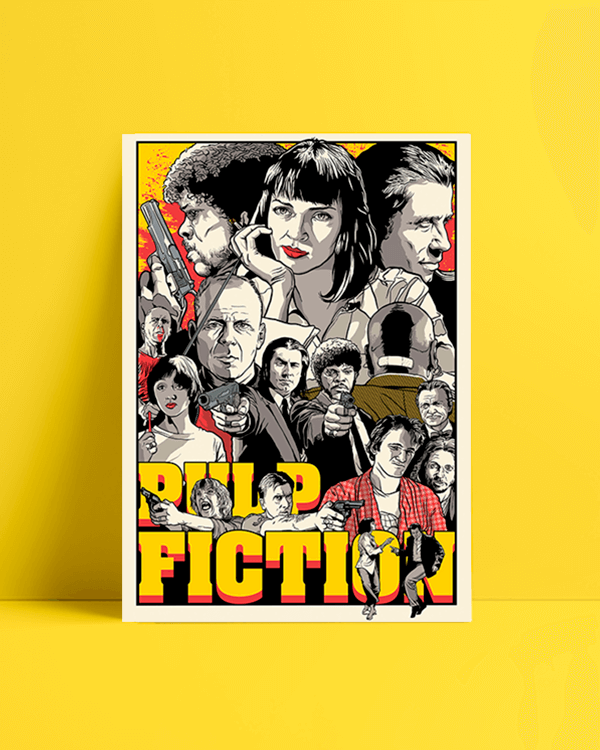pulp fiction Draw afiş