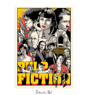 pulp fiction Draw poster