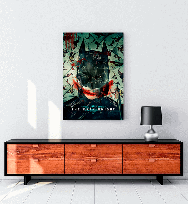 Kara Şövalye film kanvas tablo