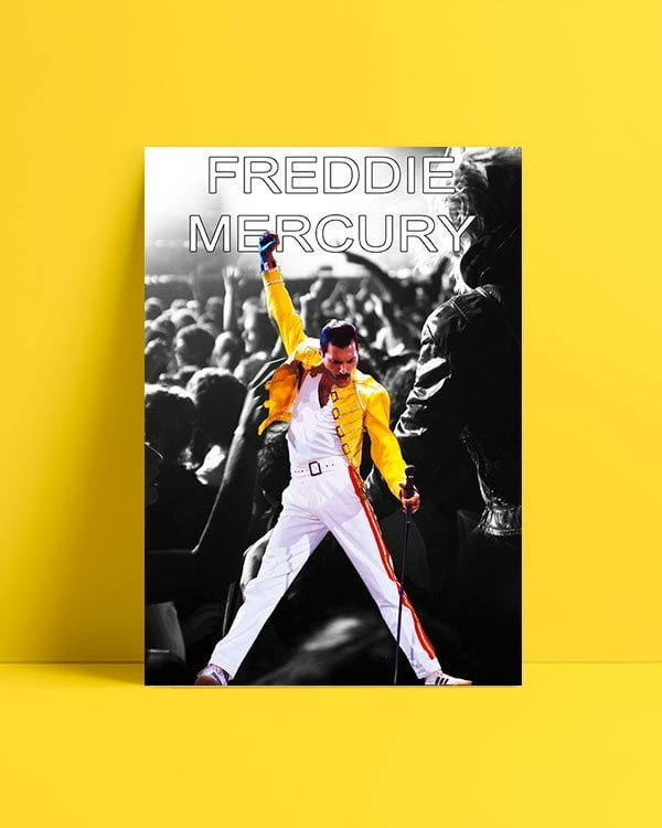 freddie-mercury-bw-poster