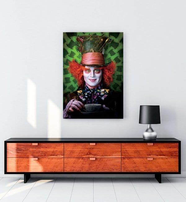 Alice in Wonderland film kanvas tablo