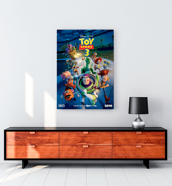 Toy Story 3 Kanvas Tablo