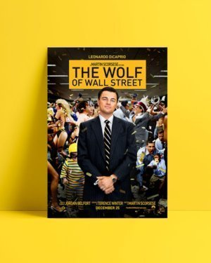 the wolf of wall street film afişi satış