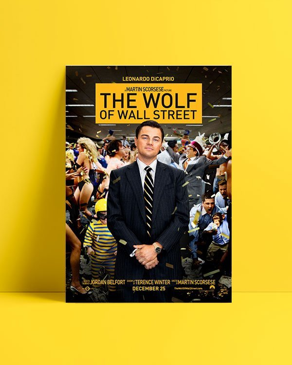 the wolf of wall street film afişi satış