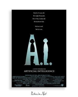 Artificial Intelligence: AI film posteri satış