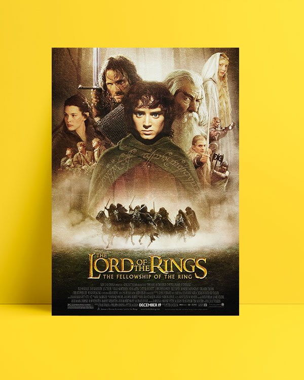 The Lord of the Rings: The Fellowship of the Ring film afişi