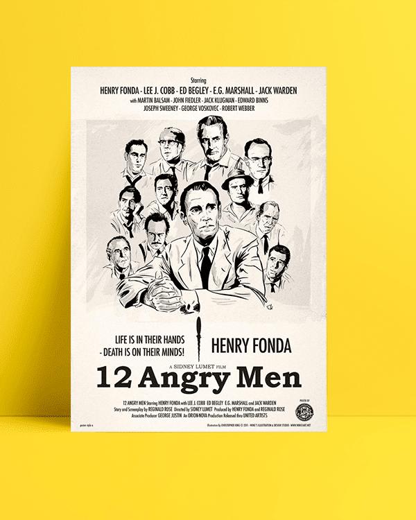 12 angry men film kanvas tablo