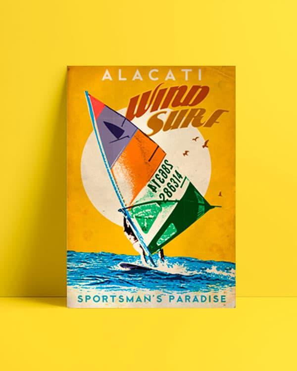 Alacati Ruzgar Sorfu - Wind Surf Posteri al