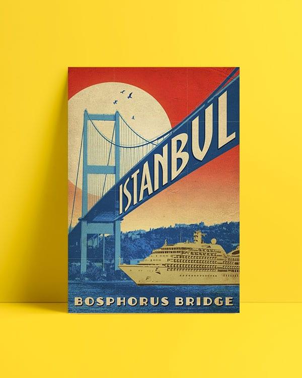 Bophorus Bridge-Boğaziçi posteri al