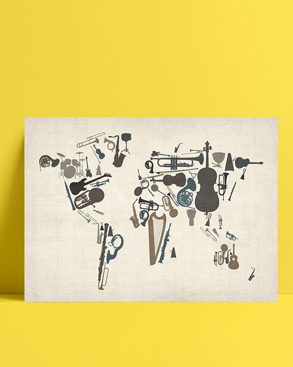 Dünya Haritası - Enstrüman posteri al