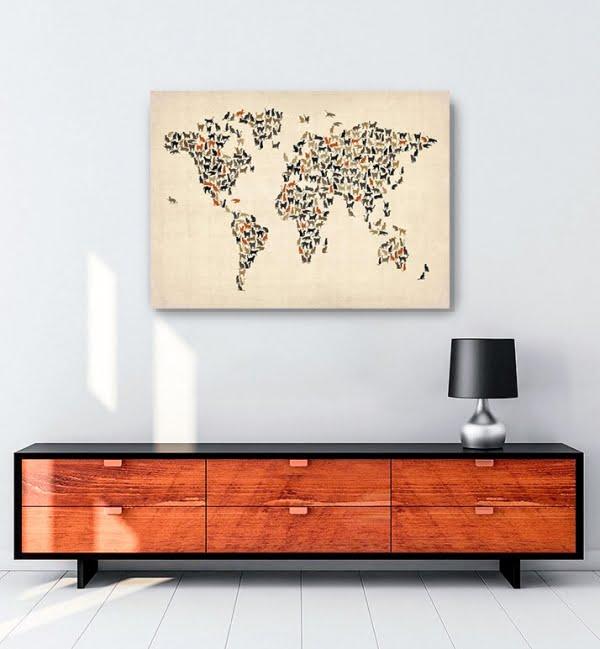 Dünya-Haritası—Kedi-posteri-3