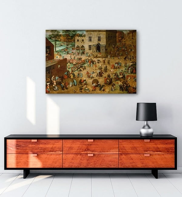 Pieter-Brueghel—Çocuk-Oyunları-Posteri-1