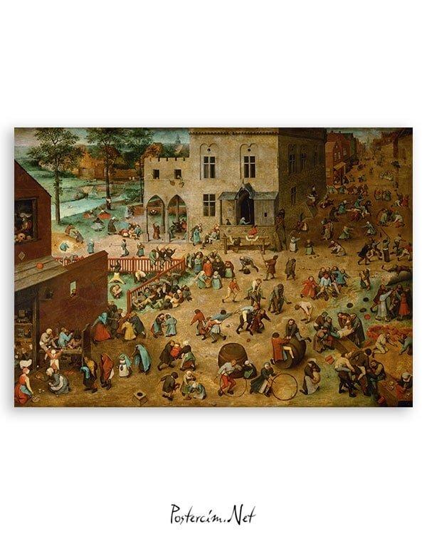 Pieter-Brueghel—Çocuk-Oyunları-Posteri-2