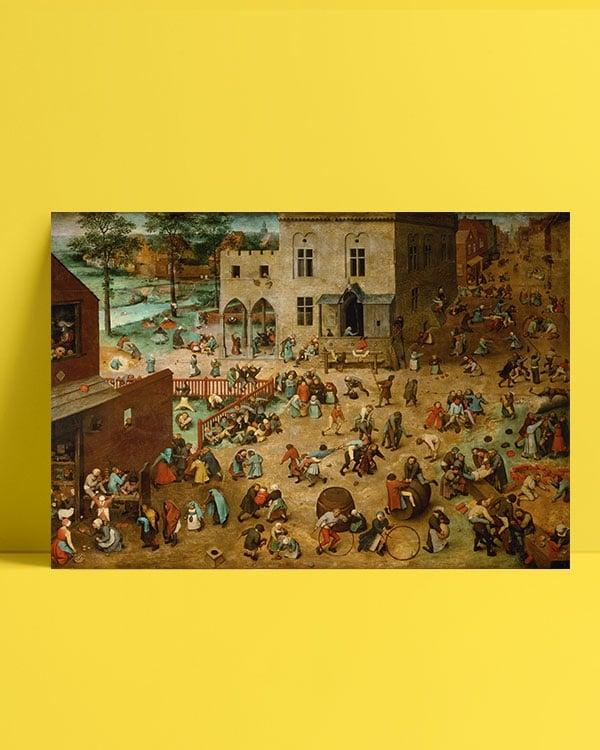 Pieter-Brueghel—Çocuk-Oyunları-Posteri