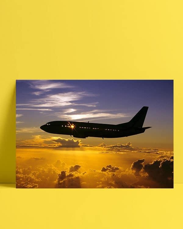 Uçak Günbatımı Posteri al