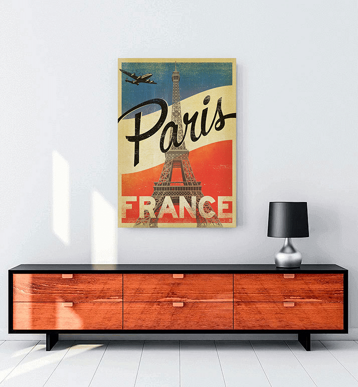 Vintage Paris posteri al