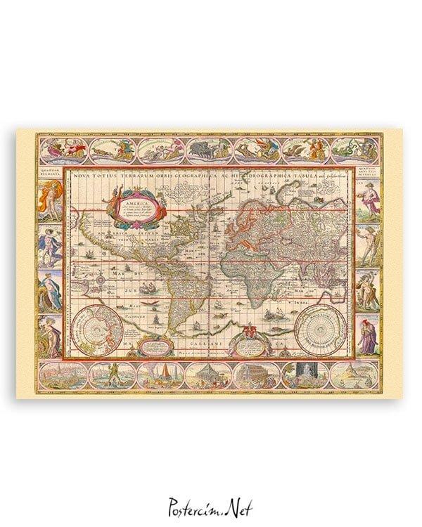 amerikan-kitasi-harita-poster-satin-al