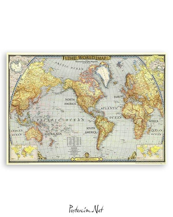 dunya-haritasi-art-poster-satin-al
