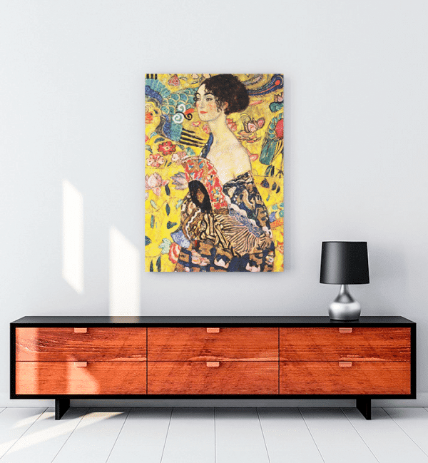 gustav-klimt-lady-with-fan-kanvas-tablo