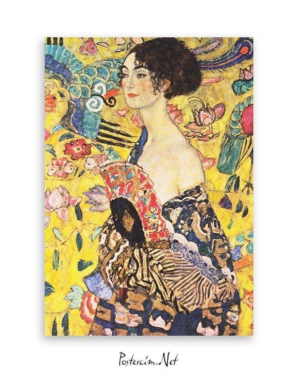 gustav-klimt-lady-with-fan-poster