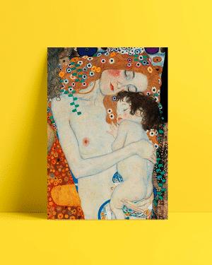 Gustav Klimt anne ve çocuk afiş