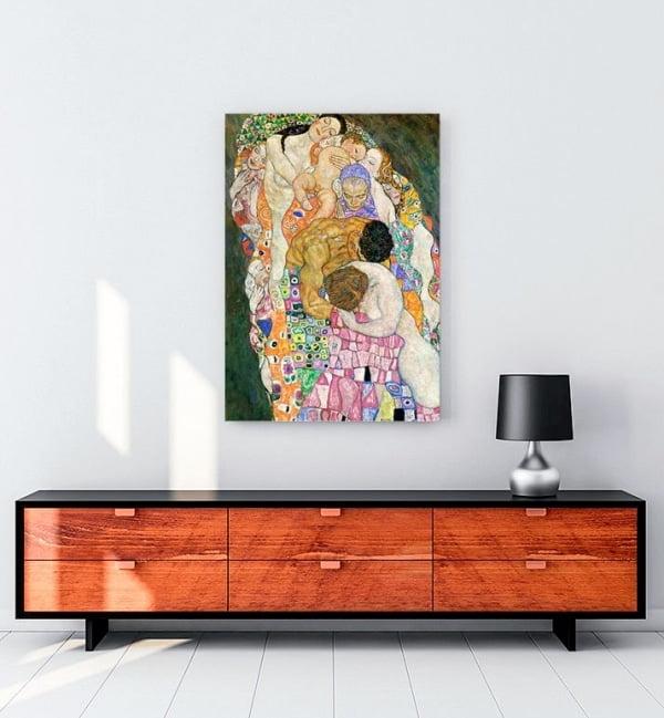 gustav-klimt-olum-ve-yasam-kanvas-tablo