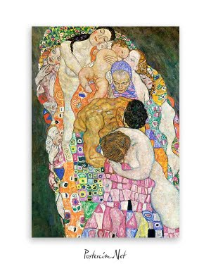 gustav klimt Death and Life poster