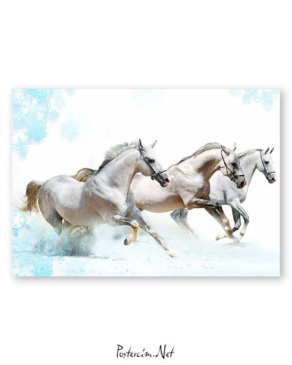 karda-kosan-atlar-poster-satin-al