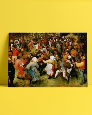 Pieter Bruegel The Wedding Dance afis