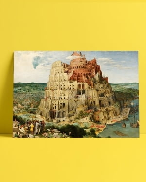 Pieter Brueghel babil kulesi afiş