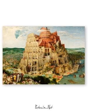 Pieter Brueghel babil kulesi poster
