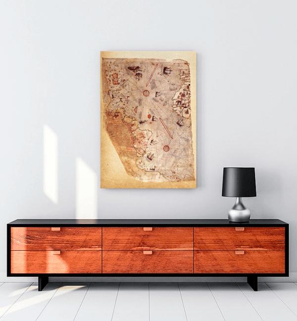 piri-reis-harita-kanvas-tablo-satin-al