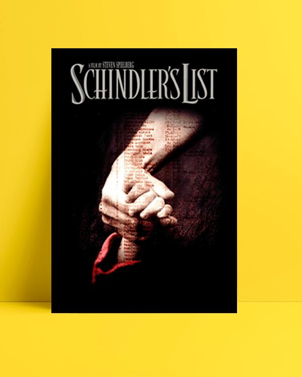 schindler's list-Schindler'in Listesi posteri