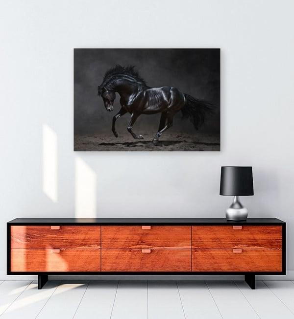 siyah-at-kanvas-tablo-satin-al