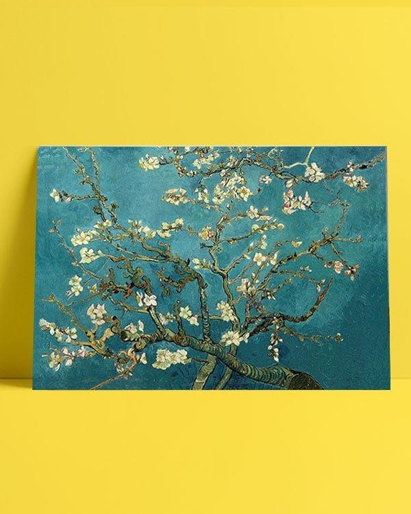 Van Gogh çiçek açan badem ağacı afiş