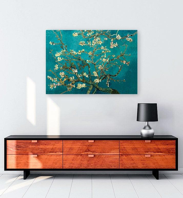 van gogh çiçek açan badem ağacı kanvas tablo