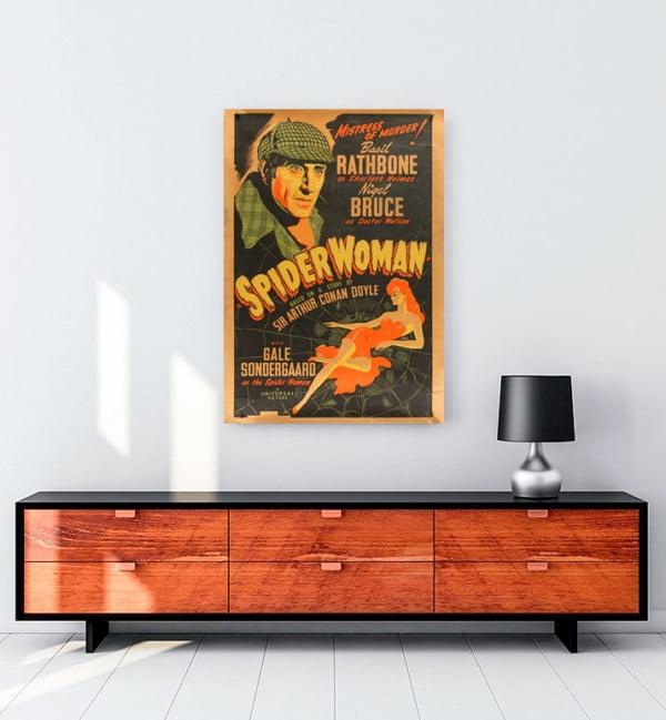 Sherlock Holmes And The Spider Woman Kanvas Tablo