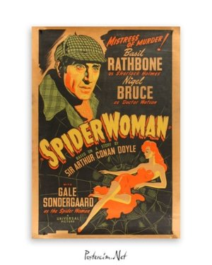 sherlock holmes spider woman poster