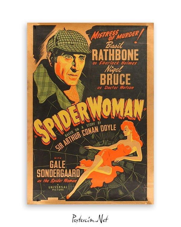 sherlock holmes spider woman poster