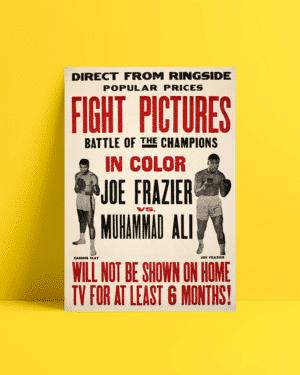 Muhammed Ali Joe Frazier afiş