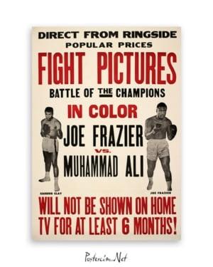 Muhammed Ali Joe Frazier Poster