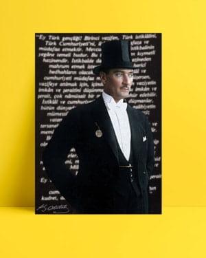 Atatürk Gençliğe Hitabe Posteri