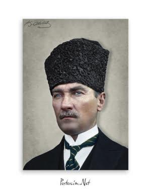 Atatürk Kalpaklı Sivil Kıyafetli Afişi