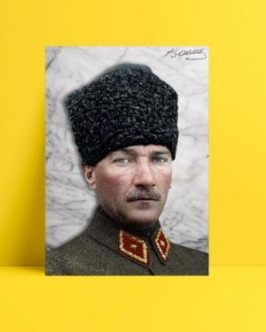 Atatürk Kalpaklı Askeri Üniforma posteri