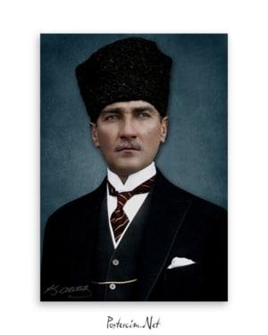 Atatürk Kalpaklı Afişi